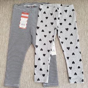 Set Of Two Toddler Girl Leggings